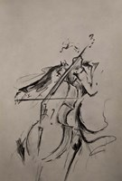 The Cellist Sketch Fine-Art Print