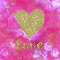 Glitter Love Pink Fine-Art Print