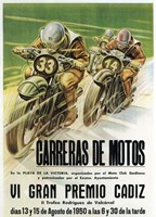 Carreras de Motos Fine-Art Print
