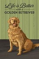 Life is Better  with a Golden Retriever Fine-Art Print
