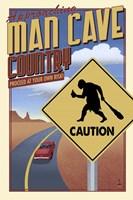 Man Cave Caution Fine-Art Print