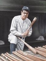 Babe Ruth On Deck Fine-Art Print