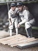 Babe Ruth and the Bat Boy Fine-Art Print