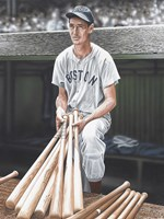Ted Williams on Deck Fine-Art Print