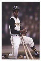 Roberto Clemente on Deck Fine-Art Print