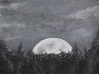 Starry Night Over the Moon Fine-Art Print