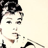 Just Smokin  Audrey Hepburn Fine-Art Print