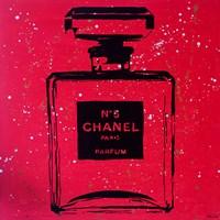 Chanel Pop Art Red Chic Framed Print
