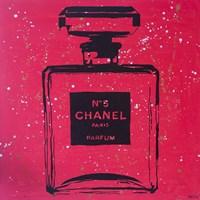 Chanel Pop Art Rosey Chic Framed Print