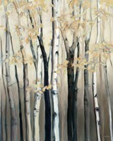 Golden Birch I Fine-Art Print