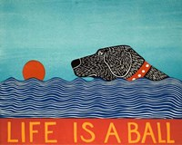 Life is a Ball Black Fine-Art Print