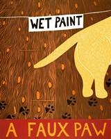 A Faux Paw Yellow Fine-Art Print