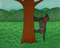 Climbing a Tree Black Fine-Art Print