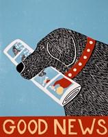 Good News Dog Black Fine-Art Print