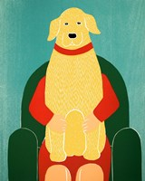 Lap Dog Yellow Fine-Art Print