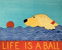 Life Is A Ball Gold Golden Fine-Art Print