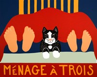 Menage A Trois Black Cat Fine-Art Print