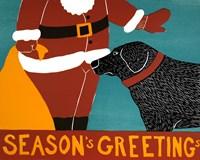 Seasons Greetings Black Fine-Art Print