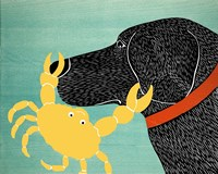 The Crab Black Dog Yellow Crab Fine-Art Print