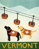 Vermont Ski Patrol Black Fine-Art Print