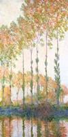 Poplars on the Banks of the Epte, Autumn, 1891 Fine-Art Print