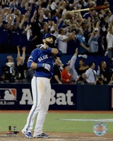 Jose Bautista three-run Home Run Game 5 of the 2015 American League Division Series Fine-Art Print