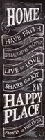 Chalkboard- Home Is In My Happy Place Fine-Art Print