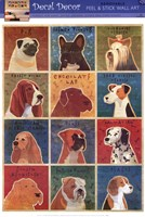 One Dozen Dogs Wall Decal