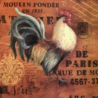 Moulin Roosters Wall Decal