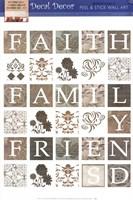 Faith, Family, Friends 2 Wall Decal