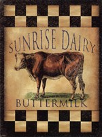 Sunrise Dairy Buttermilk Wall Decal