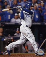 Mike Moustakas RBI Single Game 2 of the 2015 World Series Fine-Art Print