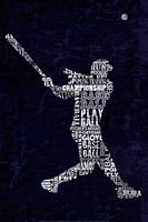 Type Baseball Blue Fine-Art Print