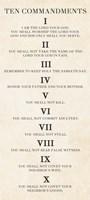 Ten Commandments - Roman Numerals Fine-Art Print