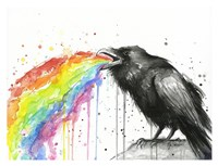 Raven Tastes the Rainbow Fine-Art Print