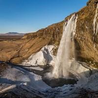 Seljalandsfoss Waterfall in the Winter, Iceland Fine-Art Print