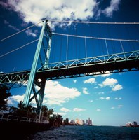 Ambassador Bridge, Detroit River, Michigan Fine-Art Print