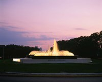 Mecom Fountain, Houston, Texas Fine-Art Print