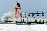 South Pier Lighthouse, South Haven, Michigan Fine-Art Print