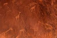 Cave Paintings by Bushmen, Damaraland, Namibia Fine-Art Print