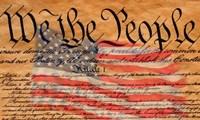 Constitution and U.S. Flag Fine-Art Print