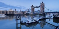 St. Katharine Pier and Tower Bridge, Thames River, London, England Fine-Art Print