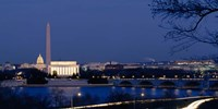 Washington Monument, Lincoln Memorial, Capitol Building, Washington DC Fine-Art Print