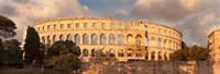 Roman amphitheater at sunset, Pula, Istria, Croatia Fine-Art Print