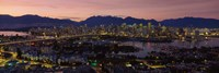 Vancouver at Dusk, British Columbia, Canada Fine-Art Print
