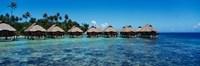 Beach Huts, Bora Bora, French Polynesia Fine-Art Print