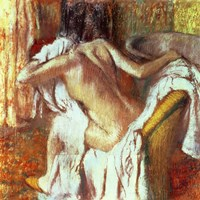 Woman drying herself Fine-Art Print