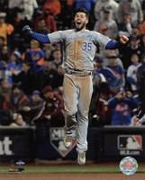 Eric Hosmer celebrates winning Game 5 of the 2015 World Series Fine-Art Print