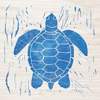 Sea Creature Turtle Blue Fine-Art Print