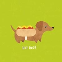 Good Dogs Dachshund Bright Fine-Art Print